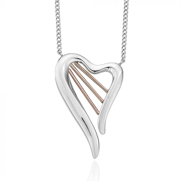 Clogau Silver and 9ct Rose Gold Heartstrings Necklace 3SHSN