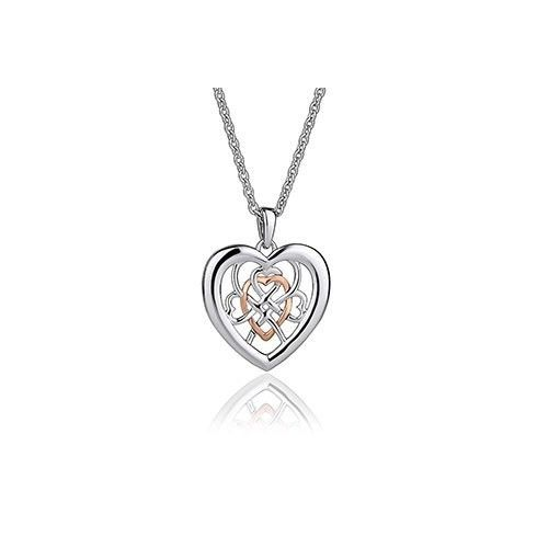 Clogau Silver and 9ct Rose Gold Welsh Royalty Pendant 3SWLRP