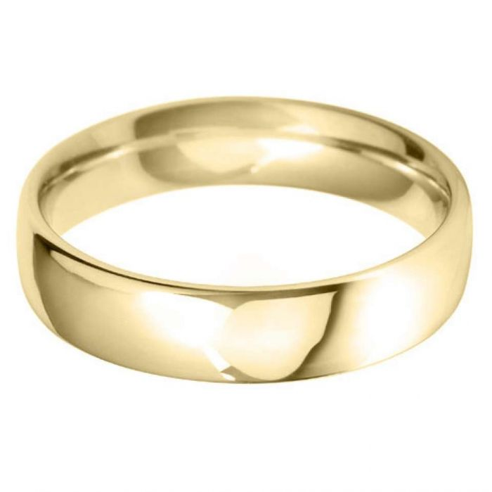 18ct Yellow Gold 5mm Heavy Court Gents Wedding Ring