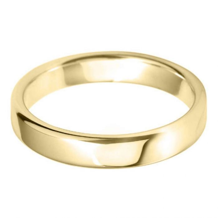 18ct Yellow Gold 4mm Heavy Court Gents Wedding Ring