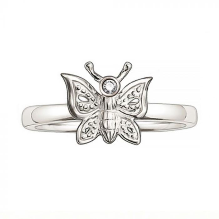 Thomas Sabo Silver and Diamond Butterfly Ring TR0005-153-14-54 SPECIAL