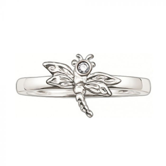 Thomas Sabo Silver and Diamond Dragonfly Ring TR0007-153-14-52 SPECIAL