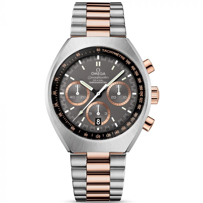 Omega Gents Speedmaster Mark II Co-Axial Chronograph 18ct Rose & Steel Watch O32720435001001 SPECIAL