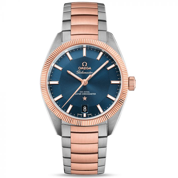 Omega Gents Constellation Globemaster Steel and 18ct Rose Gold Watch O13020392103001