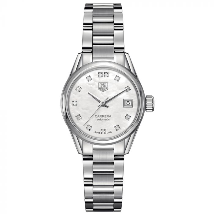 TAG Heuer Carrera Stainless Steel Automatic Diamond Ladies Watch WAR2414.BA0776 SPECIAL