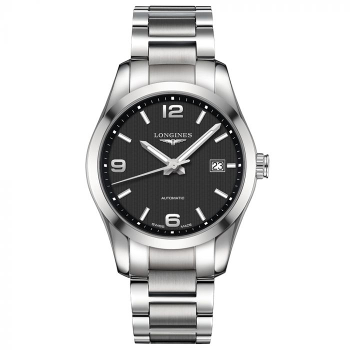 Longines Gents Conquest Classic 40mm Black Dial Stainless Steel Automatic Watch L27854566