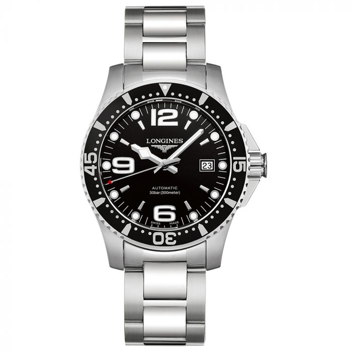 Longines Gents Stainless Steel HydroConquest 41mm Black Dial Watch L37424566