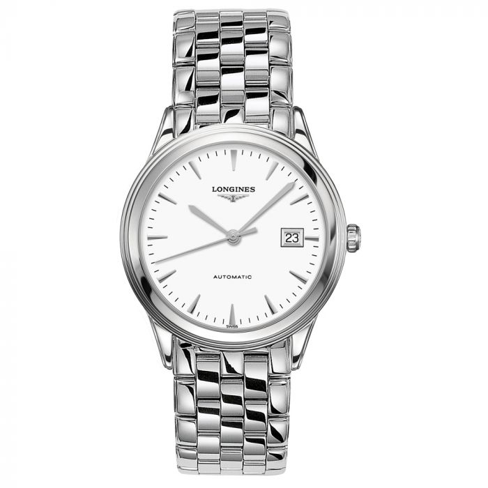 Longines Flagship Stainless Steel White Dial Automatic Gents Watch L48744126