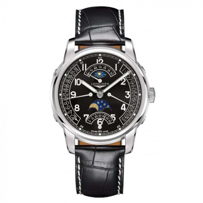 Longines Gents Saint-Imier Moonphase GMT Stainless Steel Automatic Watch L27644533