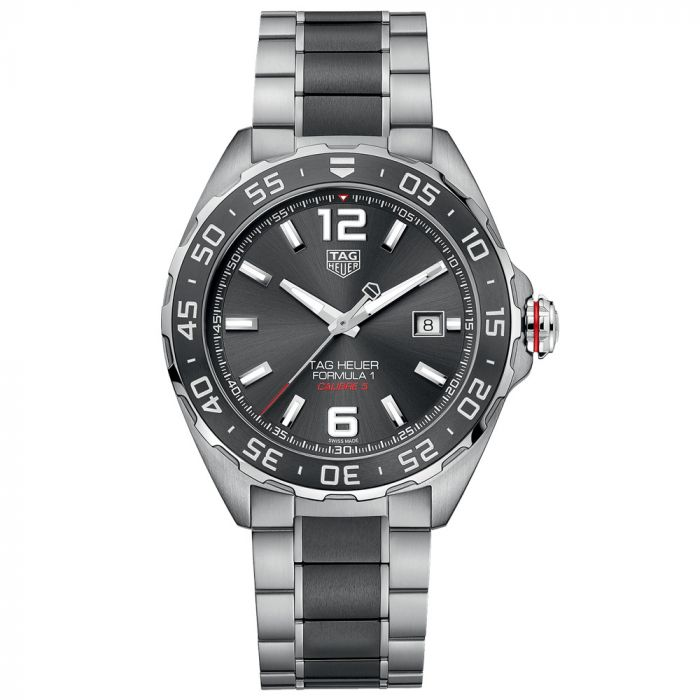 TAG Heuer Formula 1 Calibre 5 Grey Dial 43mm Stainless Steel Automatic Gents Watch WAZ2011.BA0843