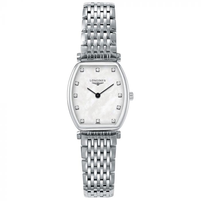 Longines Ladies La Grande Classique Tonneau Diamond Watch L42054876