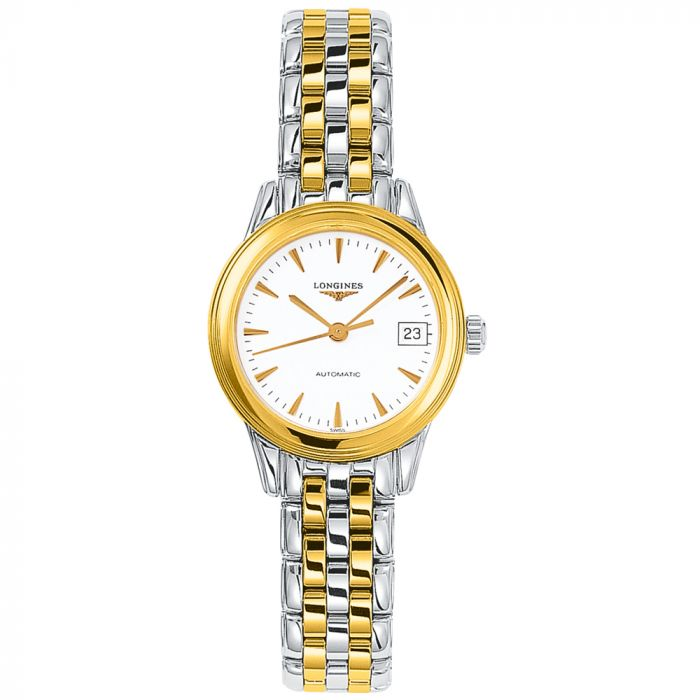 Longines Flagship Stainless Steel Two Tone Automatic Ladies Watch L42743227
