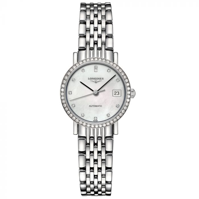 Longines Ladies Elegant Stainless Steel Automatic Watch L43090876 SPECIAL