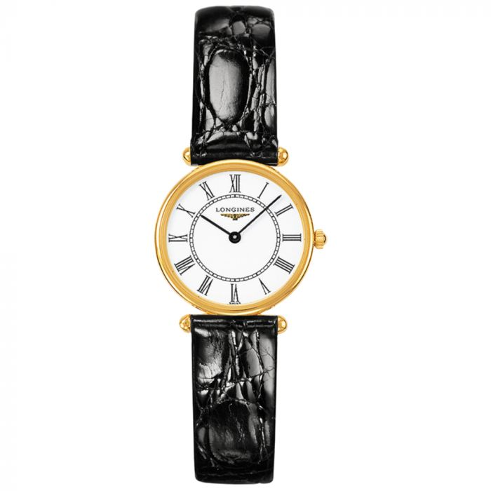 Longines Ladies Heritage Agassiz 18ct Yellow Gold White Dial Watch L41916110