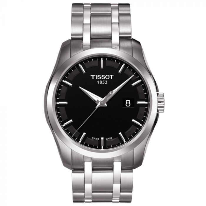 Tissot Gents T-Classic Couturier Black Dial Stainless Steel Watch T0354101105100 SPECIAL