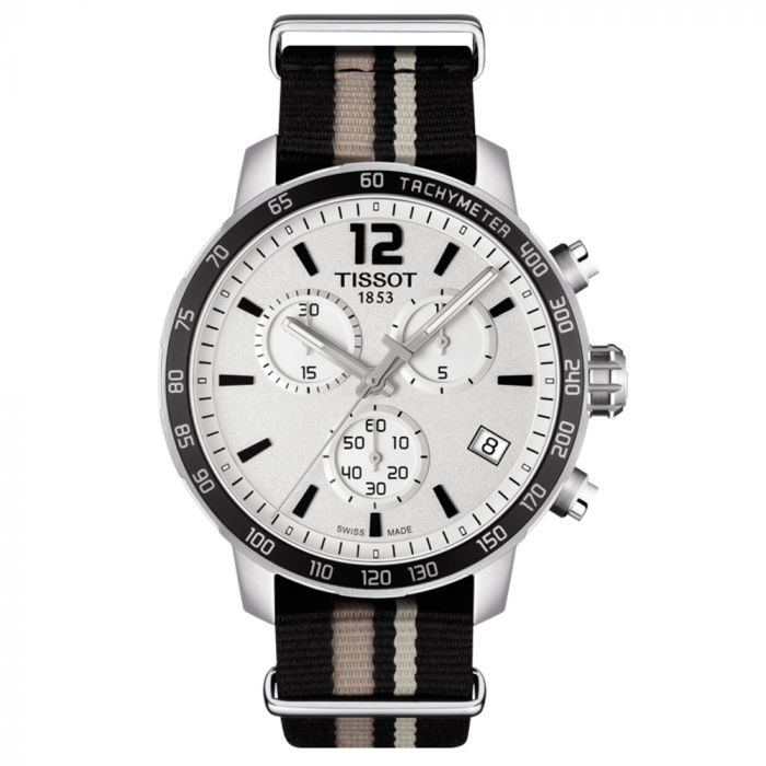 Tissot T-Sport Quickster NATO Chronograph Silver Dial Watch T0954171703710 SPECIAL