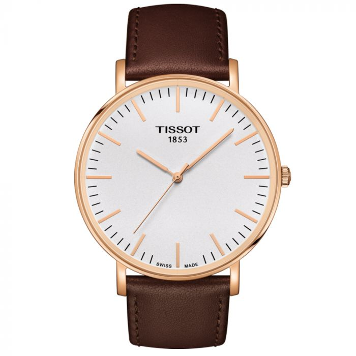 Tissot Gents T-Classic Everytime Steel & Rose PVD Silver Dial Watch T1096103603100 SPECIAL