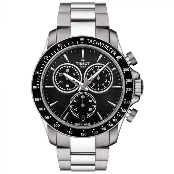 Tissot T-Sport V8 Quartz Chronograph Black Dial Gents Watch T1064171105100