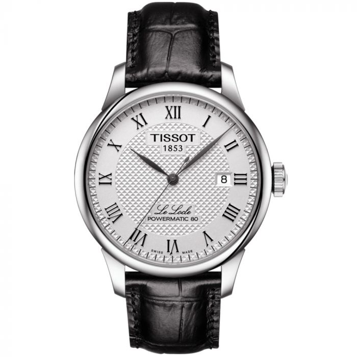Tissot T-Classic Le Locle Powermatic 80 Silver Dial Automatic Gents Watch T0064071603300