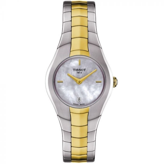Tissot Ladies T-Round Mother Of Pearl Dial Two Tone Watch T0960092211100 SPECIAL