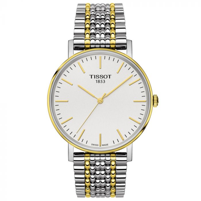 Tissot T-Classic Everytime Medium Steel & Gold PVD Two Tone Watch T1094102203100