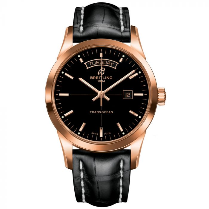 Breitling Gents Transocean Day Date 18ct Rose Gold Watch R4531012/BB70/744P SPECIAL