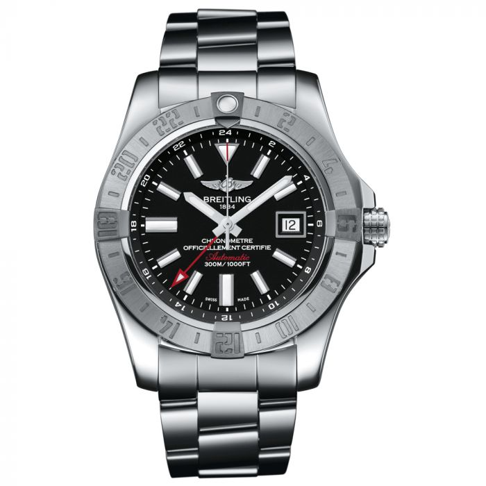 Breitling Gents Avenger II GMT Stainless Steel Watch A3239011/BC35/170A
