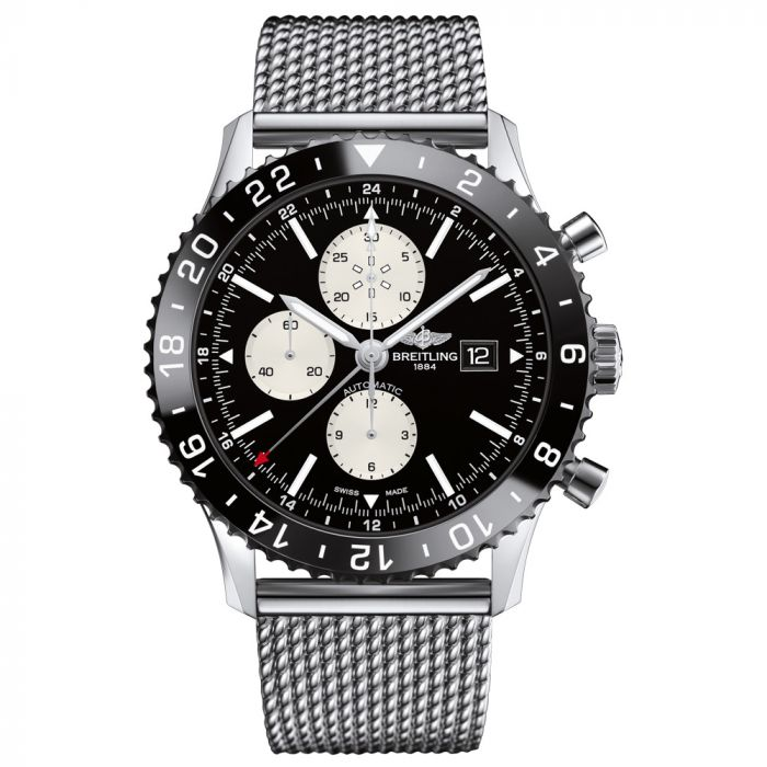 Breitling Gents Chronoliner GMT Automatic Stainless Steel Watch Y2431012/BE10/152A