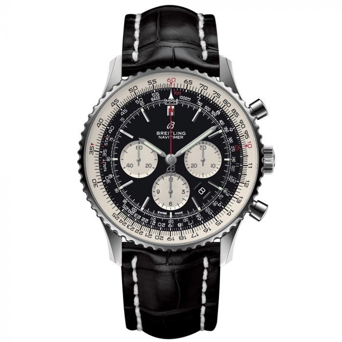 Breitling Gents Navitimer 1 B01 Chronograph Stainless Steel Watch AB0127211B1P1