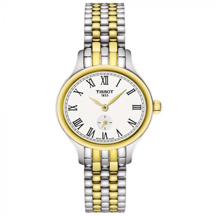 Tissot T-Lady Bella Ora Piccola Steel & Gold PVD Silver Dial Watch T1031102203300 SPECIAL
