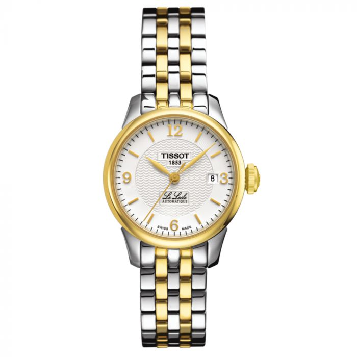 Tissot T-Classic Le Locle Automatic Stainless Steel & Gold PVD Silver Dial Lady Watch T41218334 SPECIAL