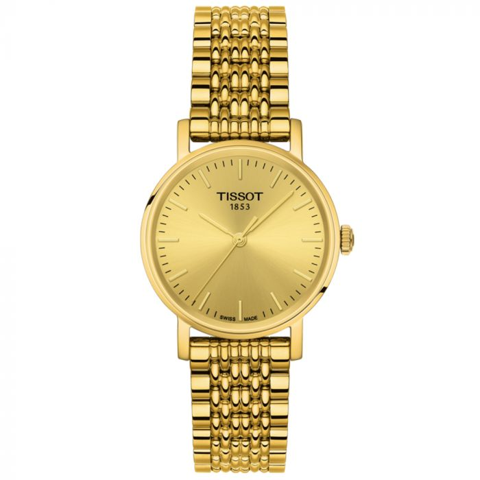 Tissot T-Classic Everytime Small Steel & Gold PVD Champagne Dial Ladies Watch T1092103302100