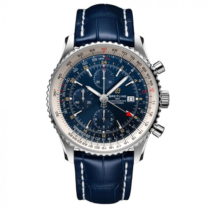 Breitling Navitimer Chronograph GMT 46mm Blue Dial Stainless Steel Gents Watch A24322121C2P2