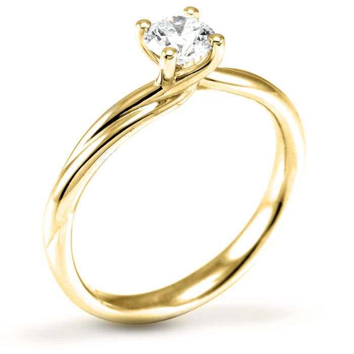 The Carnation 18ct Yellow Gold Round Brilliant Diamond Engagement Ring