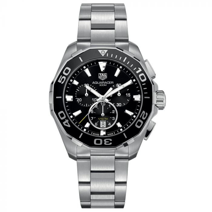 TAG Heuer Gents Aquaracer 43mm Black Dial Stainless Steel Quartz Watch CAY111A.BA0927