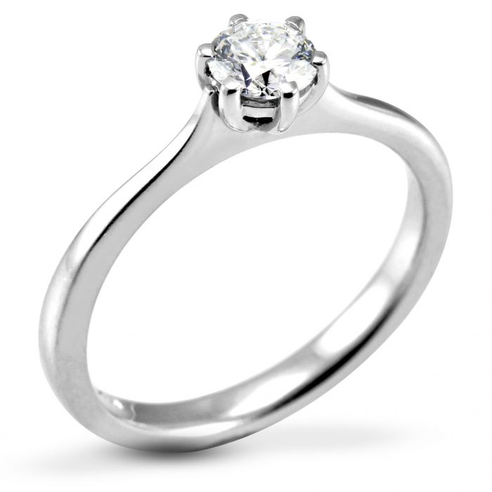 The Heather Platinum Round Brilliant Diamond Engagement Ring