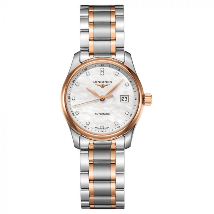 Longines Master Collection Steel & Pink Gold Automatic Ladies Watch L22575897