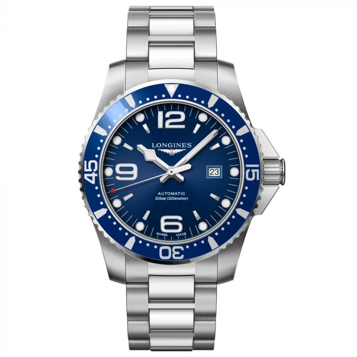 Longines Gents Stainless Steel HydroConquest 44mm Blue Dial Automatic Watch L38414966