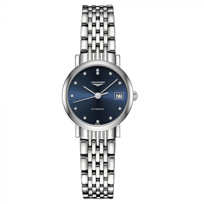 Longines Ladies Elegant Collection Stainless Steel Automatic Diamond Watch L43094976