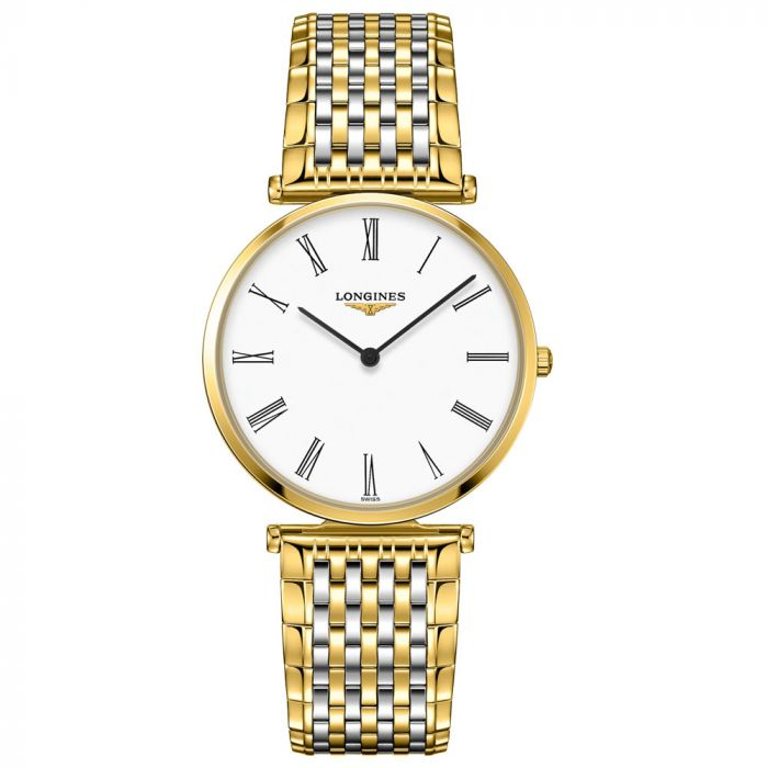 Longines La Grande Classique 36mm White Dial Stainless Steel & Gold PVD Watch L47552117