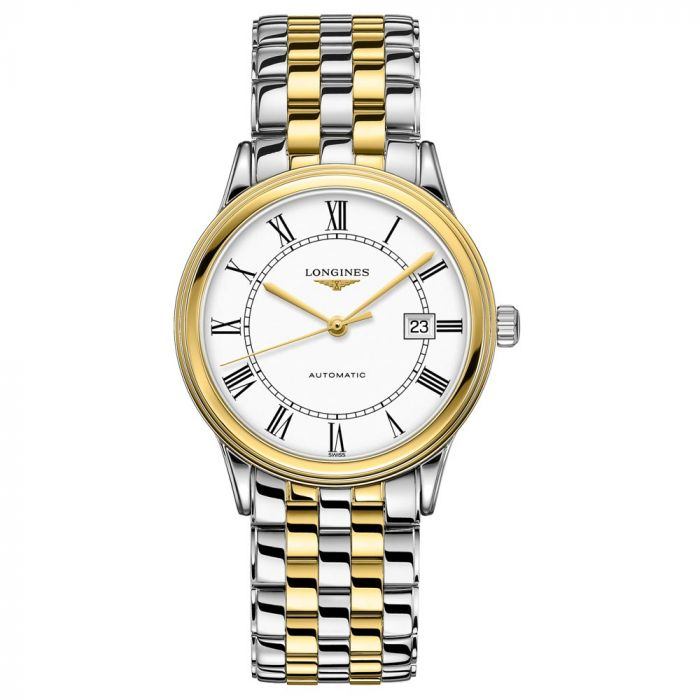 Longines Gents Flagship Steel & Gold PVD 40mm White Dial Automatic Watch L49843217