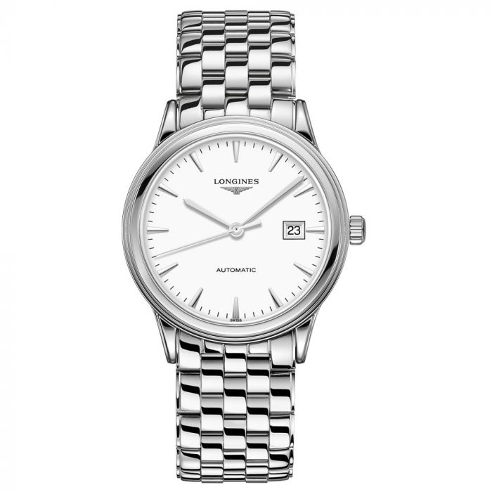 Longines Gents Flagship Stainless Steel 40mm White Dial Automatic Watch L49844126