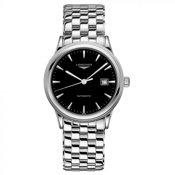 Longines Gents Flagship Stainless Steel 40mm Black Dial Automatic Watch L49844526