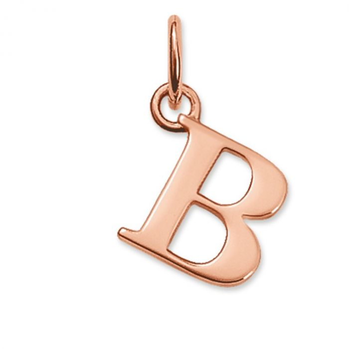 Thomas Sabo Rose Gold Plated Letter B Pendant PE589-415-12 SPECIAL