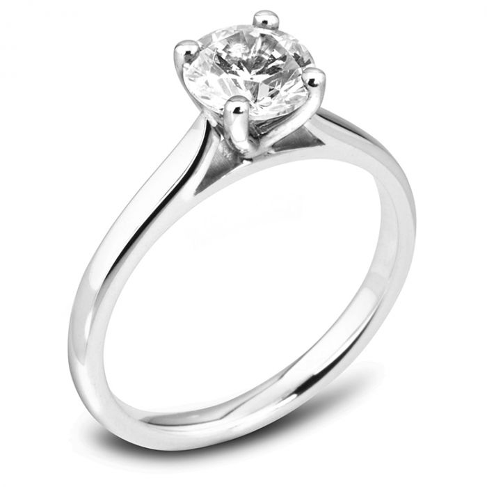The Magnolia Platinum Round Brilliant Diamond Engagement Ring