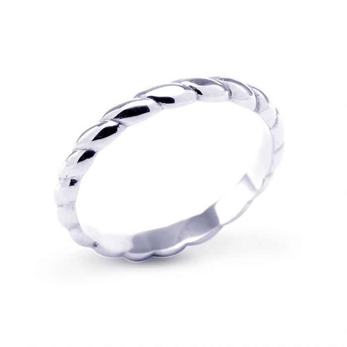 Platinum Twist Ladies Wedding Band SPECIAL
