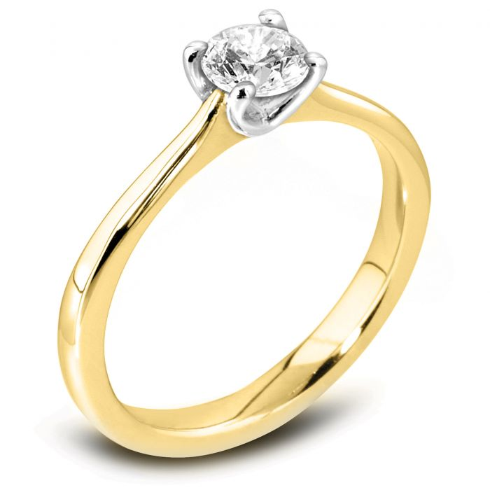The Ianthe 18ct Yellow Gold Round Brilliant Diamond Engagement Ring