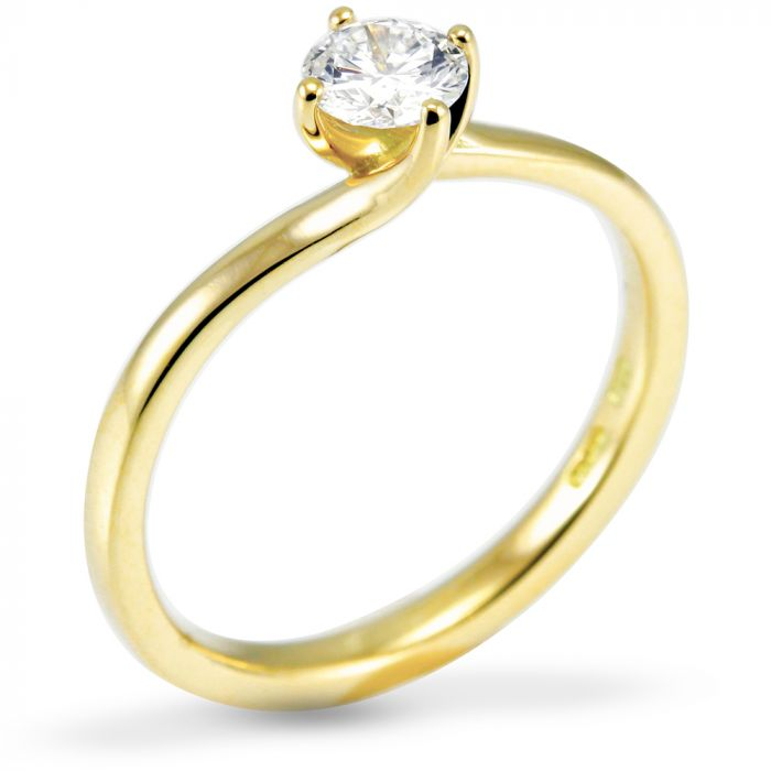 The Acacia 18ct Yellow Gold Round Brilliant Diamond Engagement Ring