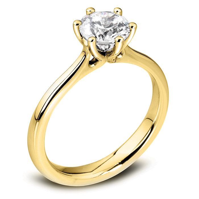The Blossom 18ct Yellow Gold Round Brilliant Diamond Engagement Ring