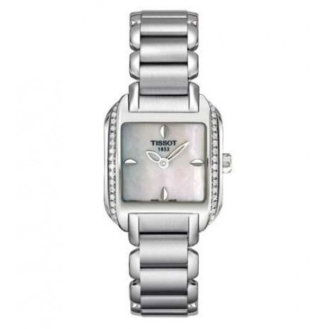Tissot Ladies T-Wave Mother Of Pearl Dial Diamond Watch T02138571 SPECIAL